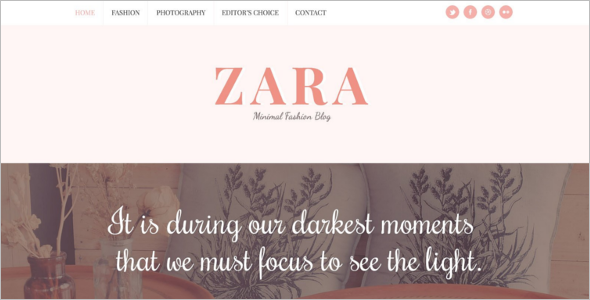 Minimal Fashion Blog Template