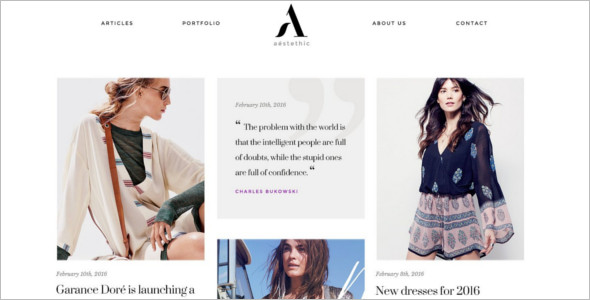 Minimal Fashion Store WordPress Theme