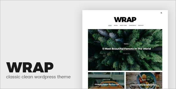 Minimal Mobile Friendly WordPress Theme