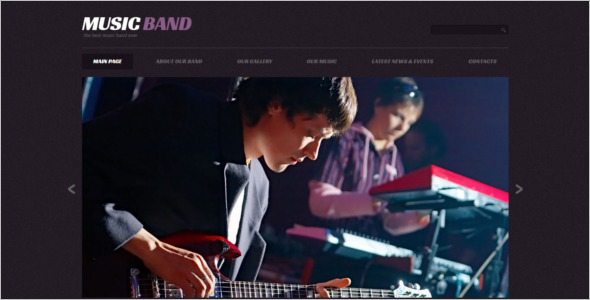 Minimal Music WordPress Theme