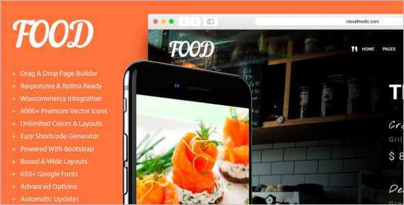 Minimal Restaurant WordPress Template