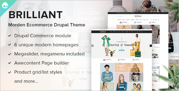 Modern Drupal Ecommerce Website Theme