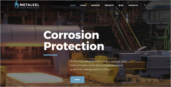 Modern Industrial WordPress Theme