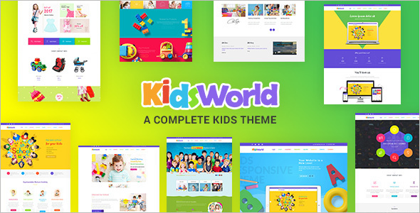 Modern Kids WordPress Theme