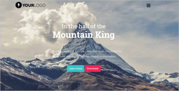 Mountain HTML Web Template