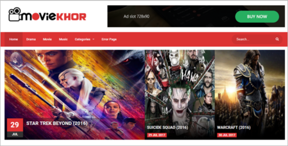 Movie Blog Template