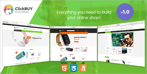Multi Store HTML Fashion Website Template