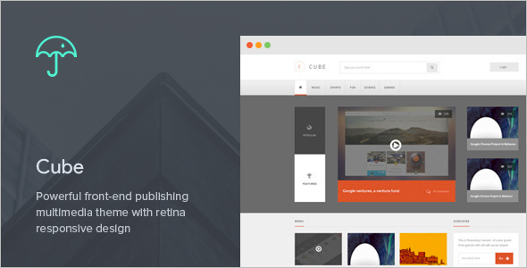 Multimedia Publishing WordPress Theme