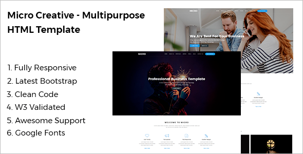 Multipurpose HTML Website Template