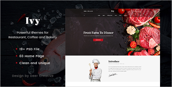 Multipurpose Restaurant WordPress Template