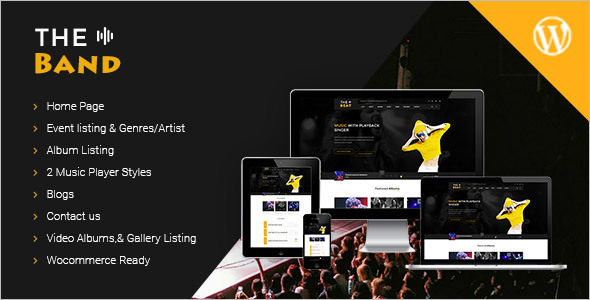Music Bands WordPress Theme