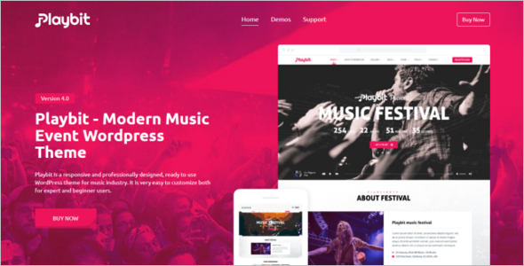 Music Oriented WordPress Theme