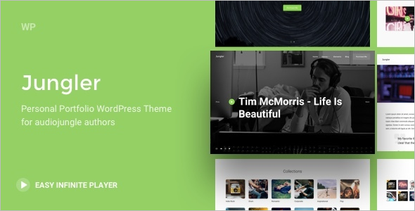 Music Portfolio WordPress Theme