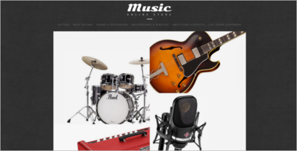 Music Shop ZenCart Theme