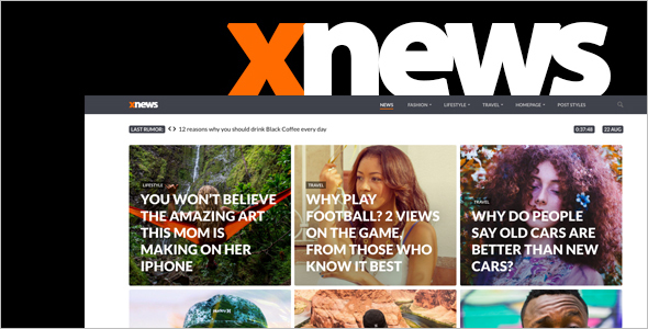 News Article WordPress Theme