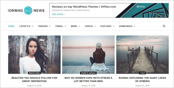 News Editorial Blog Theme
