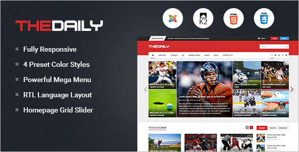 News Portal Slider Joomla Template