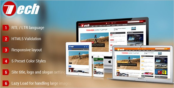 News Portal Technology Joomla Template