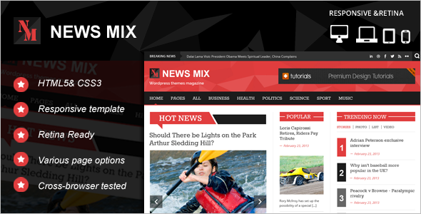News Portal Website Template