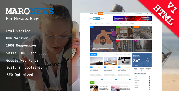 News Website HTML Template