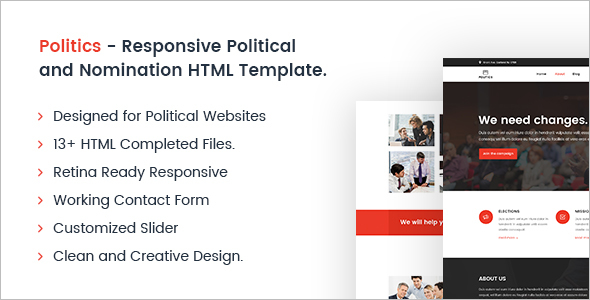 Nomination HTML Template