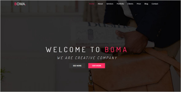 One Page Business Bootstrap Template
