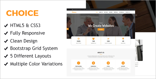 One Page HTML Business Template