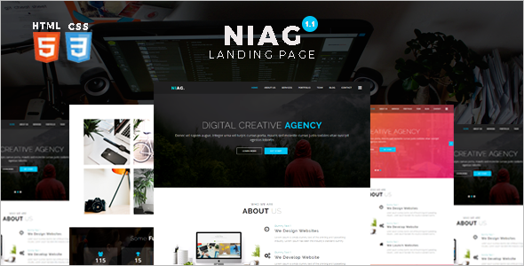 One Page Landing Template