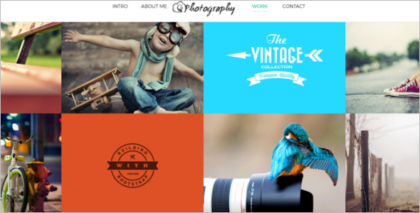 One Page Photography HTML Template