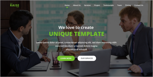 One PageResponsive Website Template