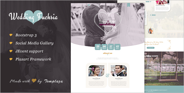 One Page Wedding Joomla Template