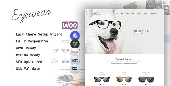 Online Glasses Store WordPress Theme`