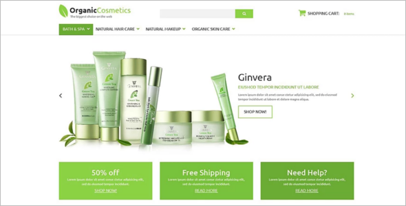 Organic Products ZenCart Theme
