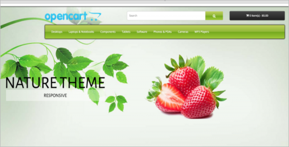Organic Store Opencart Template