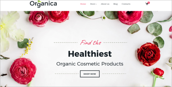 Organic Store Virtuemart Template
