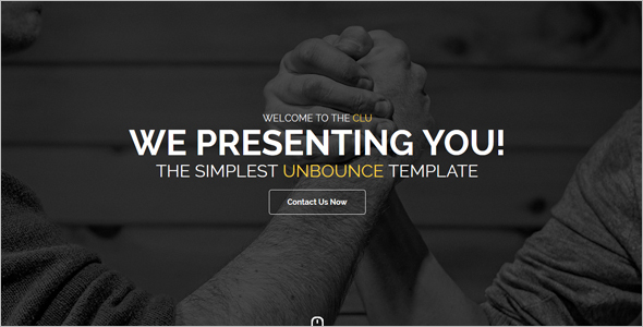 Parallax Landing Page Template