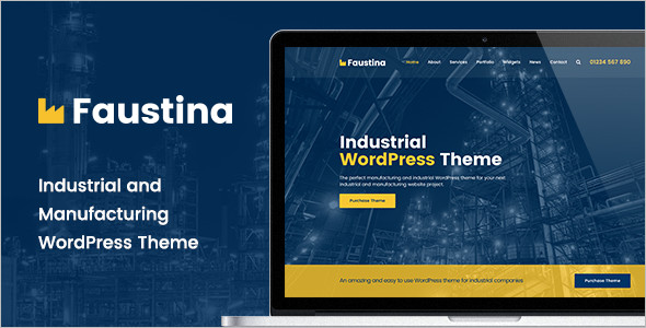 Perfect Industrial WordPress Theme