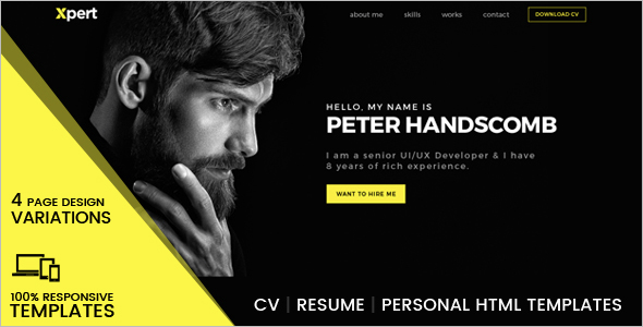 Personal HTML Template