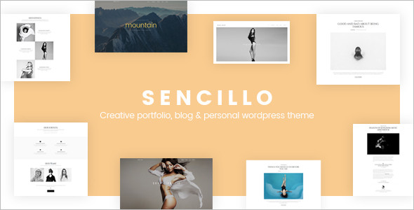 Personal Portfolio WordPress Blog Theme