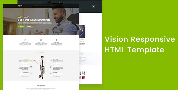 Personal corporate HTML Template