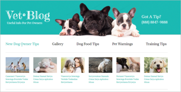 Pets Blogger Template