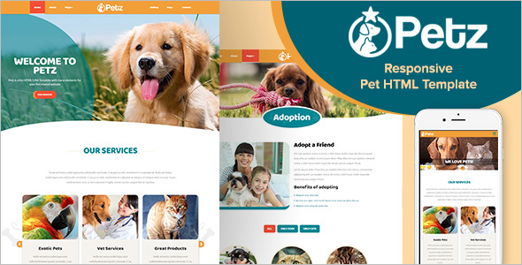 Pets HTML Template