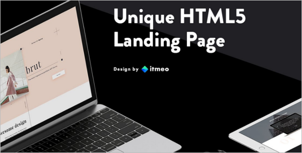 Photoshop Landing Page Template