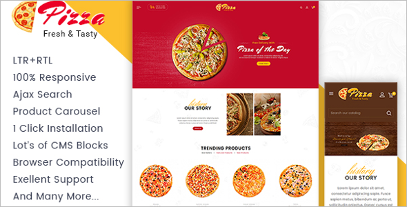 Pizza Shop Prestashop Theme