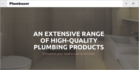 Plumbing Services VirtueMart Template