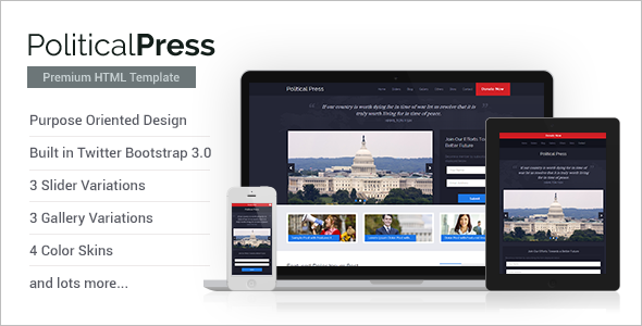 Political Campaign Bootstrap Template