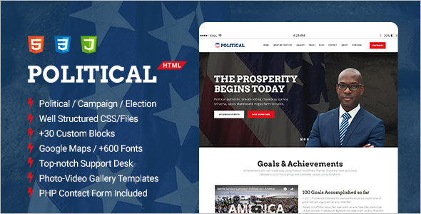 Political Campaign HTML Template