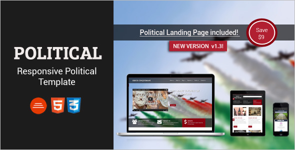 Political Page Bootstrap Template