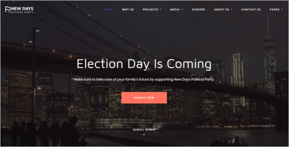 Political Party Bootstrap Theme