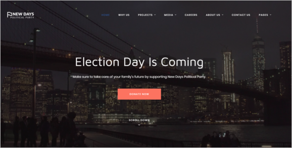 Political Party HTML Website Template